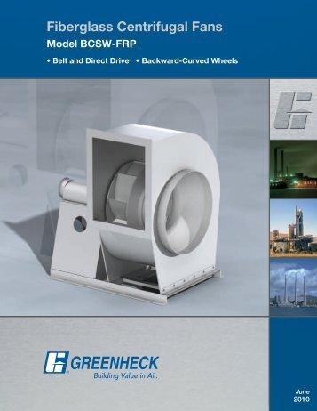 Fiberglass Centrifugal Fans (BCSW-FRP) - Greenheck