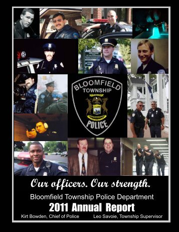 2011 Police Department Annual Report - Bloomfield Township