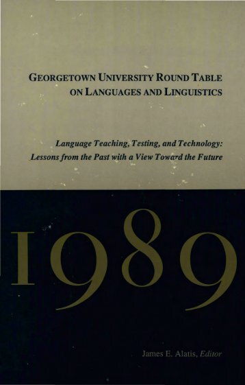 GEORGETOWN UNIVERSITY ROUND TABLE ON LANGUAGES ...