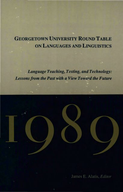 Georgetown University Round Table On Languages