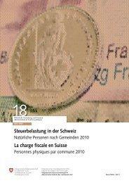 La charge fiscale en Suisse - Eidgenössische Steuerverwaltung