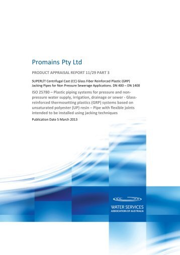 Promains Pty Ltd - Water Services Association of Australia