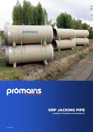 Superlit GRP Jacking Pipe Product Guide PDF - Promains