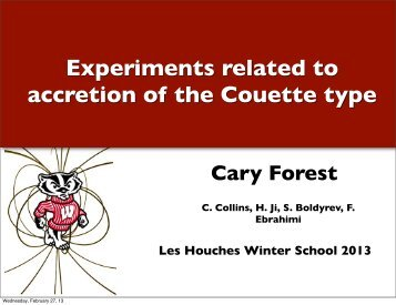 Couette experiments on accretion