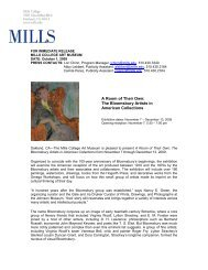 A Room of Their Own: The Bloomsbury Artists - Mills College Art ...