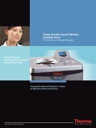 Thermo Scientific Sorvall WX Ultra Centrifuge Series - Fisher Scientific