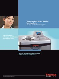 Thermo Scientific Sorvall WX Ultra Centrifuge Series - Fisher Scientific
