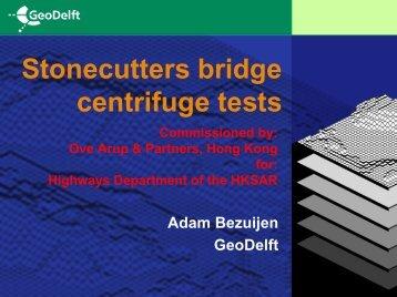 Stonecutters bridge centrifuge tests
