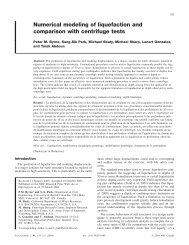 Numerical modeling of liquefaction and comparison with centrifuge ...
