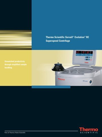 Thermo Scientific Sorvall® Evolution™ RC Superspeed Centrifuge
