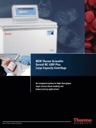 NEW Thermo Scientific Sorvall RC 12BP Plus Large ... - Ninolab AB