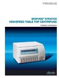 Heraeus Biofuge Stratos High Speed Table Top Centrifuge