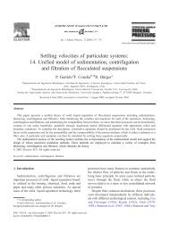 Settling velocities of particulate systems: 14. Unified model of ...