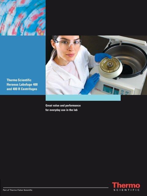 Thermo Scientific Heraeus Labofuge 400 and 400 R Centrifuges