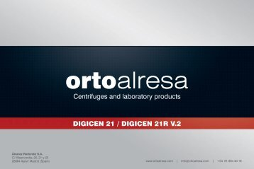 Centrifuges and laboratory products DIGICEN 21 ... - Orto Alresa