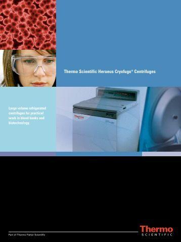 Thermo Scientific Heraeus Cryofuge® Centrifuges - TS Labor