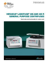 HERAEUS® LABOFUGE® 400 AND 400 R GENERAL PURPOSE ...
