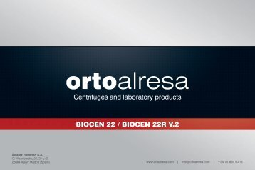 Centrifuges and laboratory products BIOCEN 22 ... - Orto Alresa