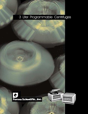 3 Liter Programmable Centrifuges