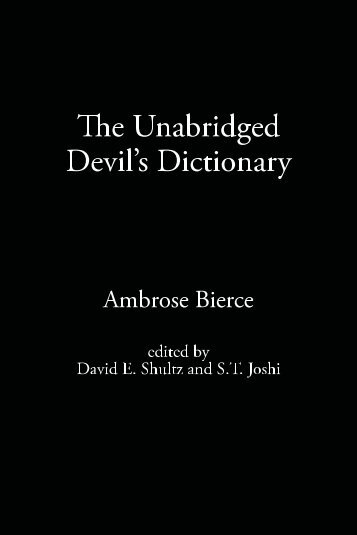 The Unabridged Devil's Dictionary - Blogs@Baruch