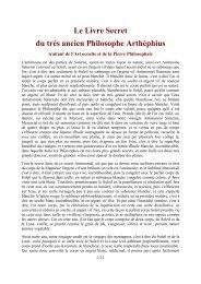 Le Livre Secret du tres anciens philosophe Arthéphius - Alchimie
