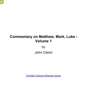 Commentary on Matthew,...