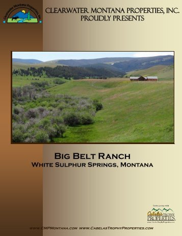 Big Belt Ranch - Clearwater Montana Properties, Inc.