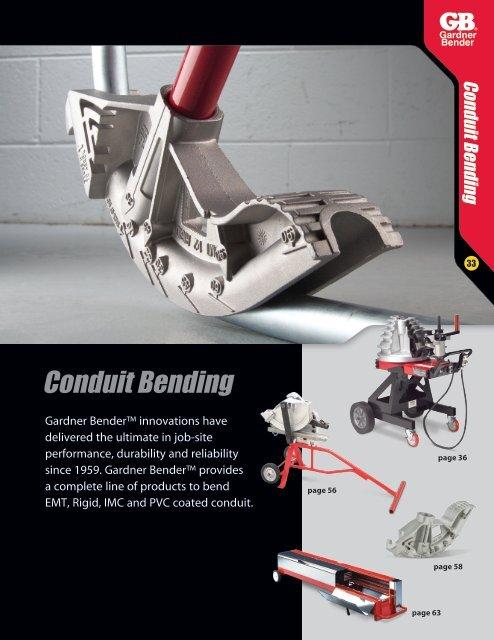 "GB Gardner Bender 820 ½/"" Rigid Aluminum Hickey Head Used"