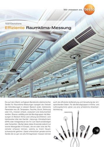 Effiziente Raumklima-Messung - Testo AG