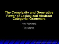 The Complexity and Generative Power of Lexicalized Abstract ...