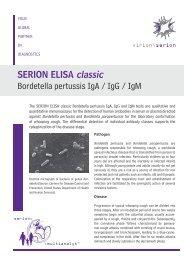SERION ELISA classic Bordetella pertussis IgA / IgG ... - virion\serion