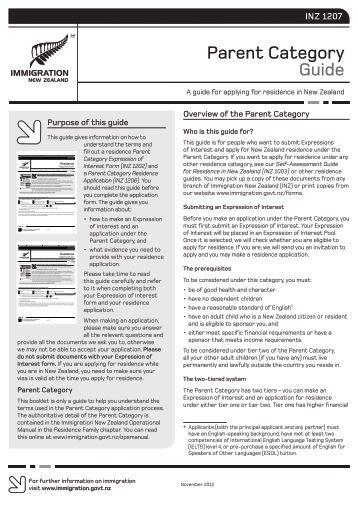 (INZ 1207) PDF - Immigration New Zealand