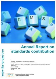Annual Report on standards contribution - IKS