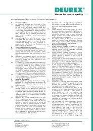 Fassung: Dezember 2012 Seite 1 von 3 DEUREX AG Dr.-Bergius ...