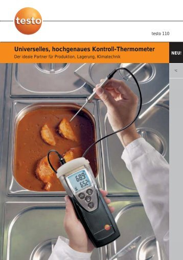 Universelles, hochgenaues Kontroll-Thermometer - Testo AG