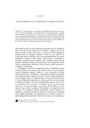 On the Possibility of a Substantive Theory of Truth - UCSD