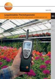 Langzeitstabiles Thermohygrometer - Testo AG