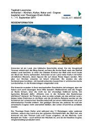 Tagblatt Leserreise Armenien – Kirchen, Kultur ... - St. Galler Tagblatt