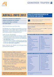 ABFALL-INFO 2012 - Teufen