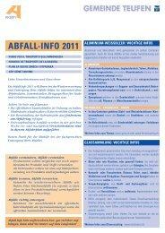 ABFALL-INFO 2011 - Teufen