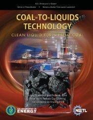 Coal-to-Liquids Technology - DOE - Fossil Energy - U.S. Department ...