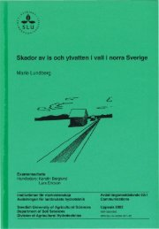 Examensarbete Handledare: Kerstin Berglund Lars Ericson