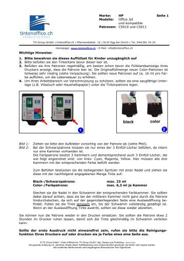 Nachfüllanleitung einsehen (PDF-Format) - TO Group GmbH