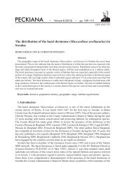 The distribution of the hazel dormouse (Muscardinus ... - Senckenberg
