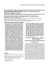Waardenburg Syndrome - Instituto de Biociências da USP
