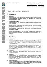 Hausordnung Sportanlagen [PDF, 54.0 KB] - Teufen
