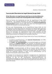 Pressemitteilung - Faurecia