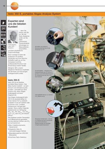 testo 350-S, portables Abgas-Analyse-System Experten ... - Testo AG