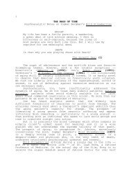 1 THE RAGS OF TIME Psychoanalytic Notes on Ingmar Bergman's ...