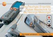 Digitale Messtechnik für alle Heizungs-Messungen - Testo AG